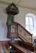 Predikstol från 1642 övertogs från gamla kyrkan
