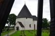 Hagby kyrka sedd från klockstapeln