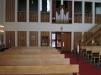 Kyrkorummet med orgelläktaren
