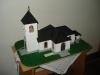 Modell av 1800-talskyrkan.