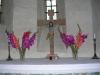 Vacker dekoration på altaret