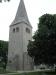 Tornet med stödmurar.