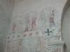 Detalj av Passionsmästarens kalkmålningar.