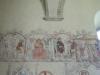 Del av Passionsfrisen från 1400-talet