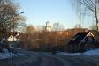 Vacker vy över Jämshög kyrka med omnejd