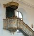 Predikstolen med draperimålning. Foto:Bernt Fransson