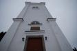 Intagande kyrktorn i Tvings kyrka