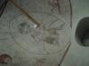Detalj av kalkmålningar.