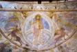 Foto Stig Alenäs. Kristus på regnbågen med fyra evangeliesymboler.