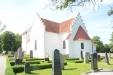 Röddinge kyrka med kor och den korsarmade utbyggnaden