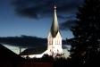 Näsums kyrka foto  fr. SO 20131002 kl 19.32 med stativ
