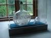 Glaskaraff från Henrikstorps glasbruk i socknen.