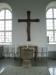 Dopfunt från 1200-talet med dopfat i mässing från 1500-talet