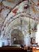 En del av valvmålningarna i Hästveda kyrka