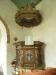 Kopia av det medeltida altarskåpet som föreställer en Gregoriemässa
