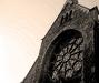 Rosettfönster på Falkenbergs kyrka