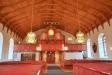 Altarskåpet under orgelläktaren är ett tyskt arbete från (tror man) början av 1500-talet