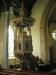 Träskulpturerna på predikstolen kom till 1928