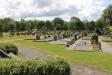 Vy över kyrkogården  juni 2016.