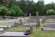 Vy mot kyrkogården