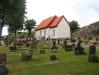 Svenneby gamla kyrka. Vid det lilla fönstret längst bort var förr ingången i kyrkan.