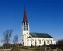 Skallsjö kyrka en höstdag 2012. Eget foto.