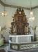 Den vackra altaruppsatsen från 1737 av mäster Nils Falk