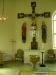 Krucifixet med Maria och Johannes kom från Skara domkyrka på 1660-talet