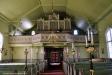 Orgeln på elva stämmor installerades vid ombyggnaden 1893. 1955 ombyggd av Tostareds orgelfabrik