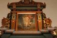 Altaruppsatsens övre målning.