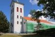 Kyrkan genomgår en yttre renovering.