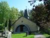 Thordenska gravkoret i sluttningen ovanför kyrkan