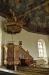 Nygjort skåp vari man placerat medeltida träskulpturer