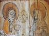 Detalj från den äldre altartavlan.