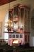 Barockorgeln nära koret byggdes av Smedmans orgelbyggeri i Lidköping 1991. Fotot taget 14 maj 2016.