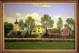 Odensåkers kyrka & Sörgården avmålad av M.Raarukainen 1916.