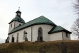 Skärvs kyrka från sjösidan. Foto: (c) Kerstin Pilblad