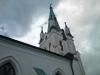 Exteriör utav Dala kyrka kyrktorn