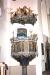 Altaruppsatsen nederdel är  från 1709
