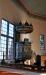 Predikstolen på korets norra sida är tillverkad i plattskärningsteknik år 1670.