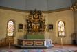 Altaruppsats från omkring 1700 snidad av mäster Nils Falk