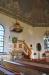 Predikstolen är från 1858 och timglaset är daterat till 1693.