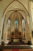 Glasmålningarna i koret kom till 1900 och 1914