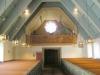 Glasmålningen på orgelläktaren
