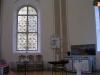 dopfunt och målat fönster