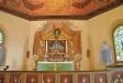 Altaruppsatsen från 1693 stod först i den gamla kyrkan