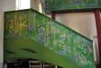 Edens lustgård även på trappan upp till läktaren