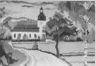 Bildväv från tiden innan vägen rätades. Väven hänger i föramlingshemmet Foto Pelle Svedberg