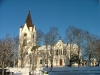 Nora kyrka i vinterskrud