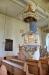 Även predikstolen från 1723 är i praktfull barock